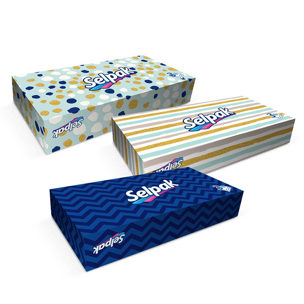 Серветки гігієнічні в коробцi Selpak 3-шарові, 70 шт.- Фото 6 - Biosphere