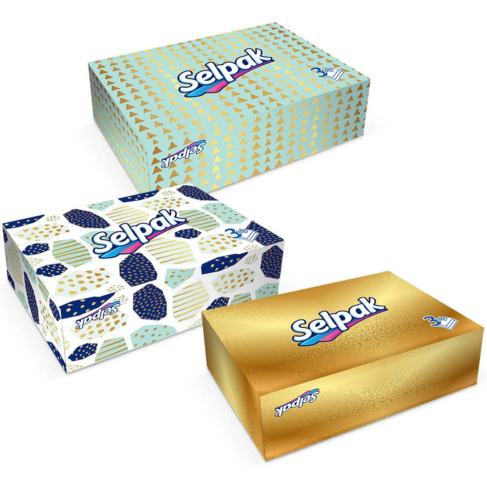 Серветки гігієнічні в коробцi Selpak 3-шарові, 50 шт.- Фото 5 - Biosphere