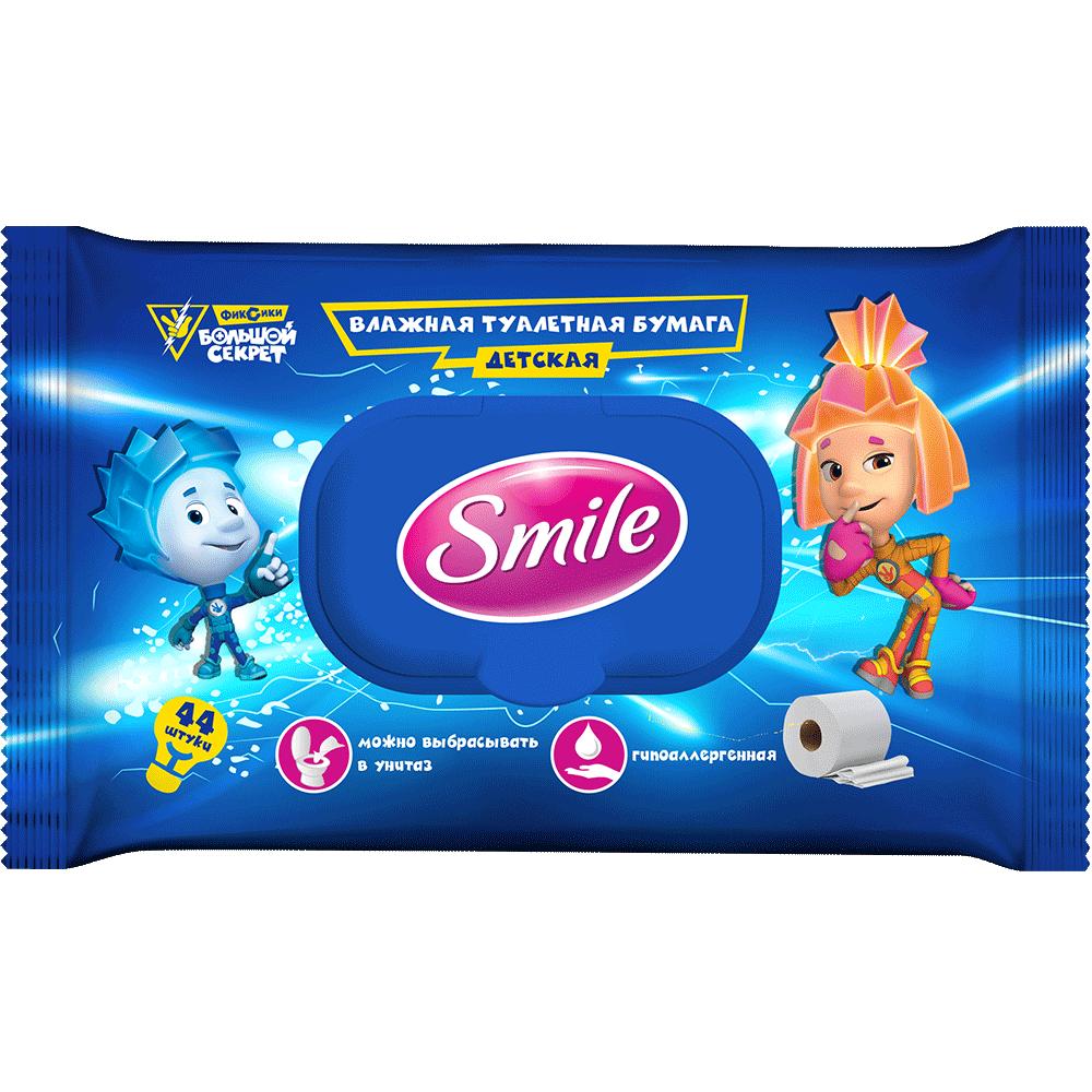 Влажная туалетная бумага детская Smile Фиксики 44 шт.- Фото 1 - Biosphere