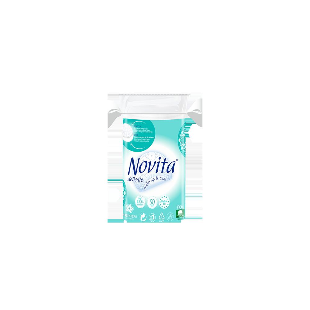 NOVITA Delicate Ватные диски косметические, 50 шт.- Фото - Biosphere