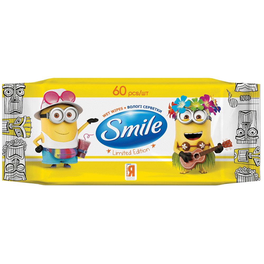 Smile Minions Влажные салфетки с витаминами, 60 шт.- Фото - Biosphere