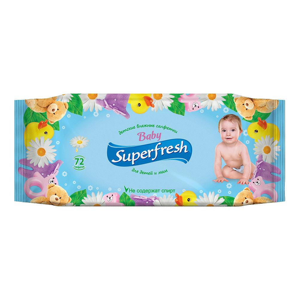 Влажные салфетки Superfresh Baby, 72 шт.- Фото 3 - Biosphere