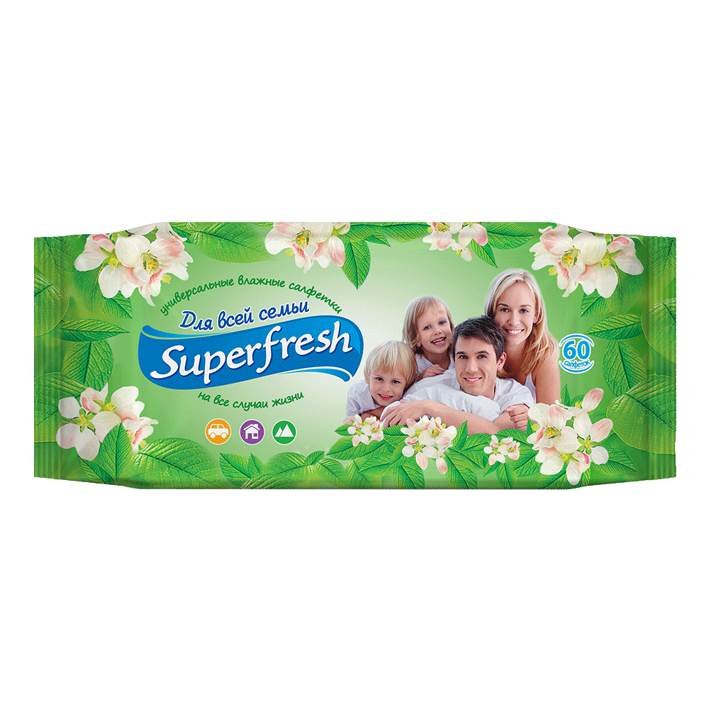 Superfresh Family wet wipes, 60 pcs.- Фото 3 - Biosphere