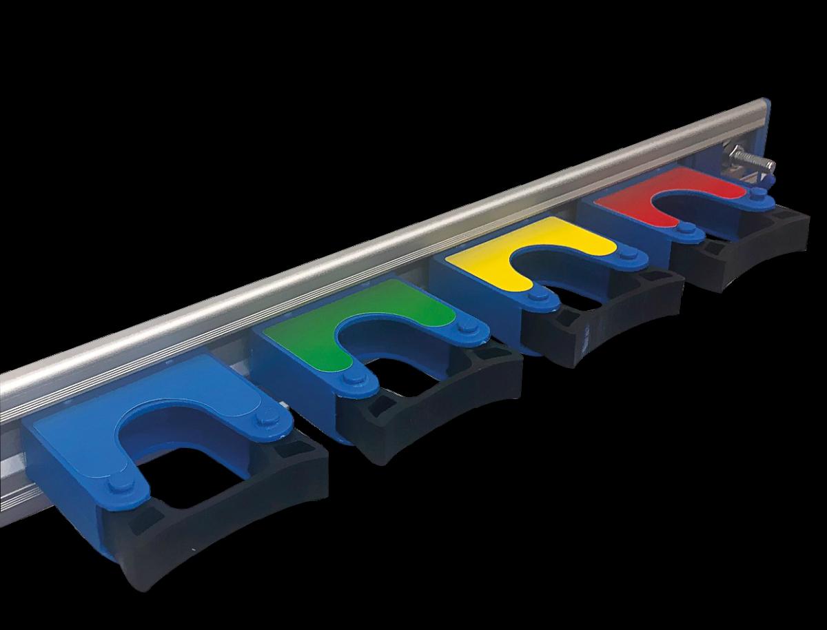 Тримач для інструментів настінний на 4 кліпси- Фото - Biosphere