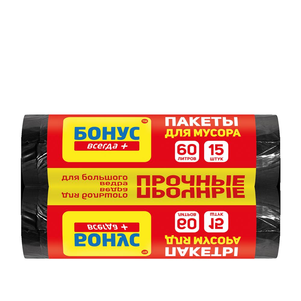 БОНУС Пакет для смiття п/е 60л/15 шт.- Фото 3 - Biosphere