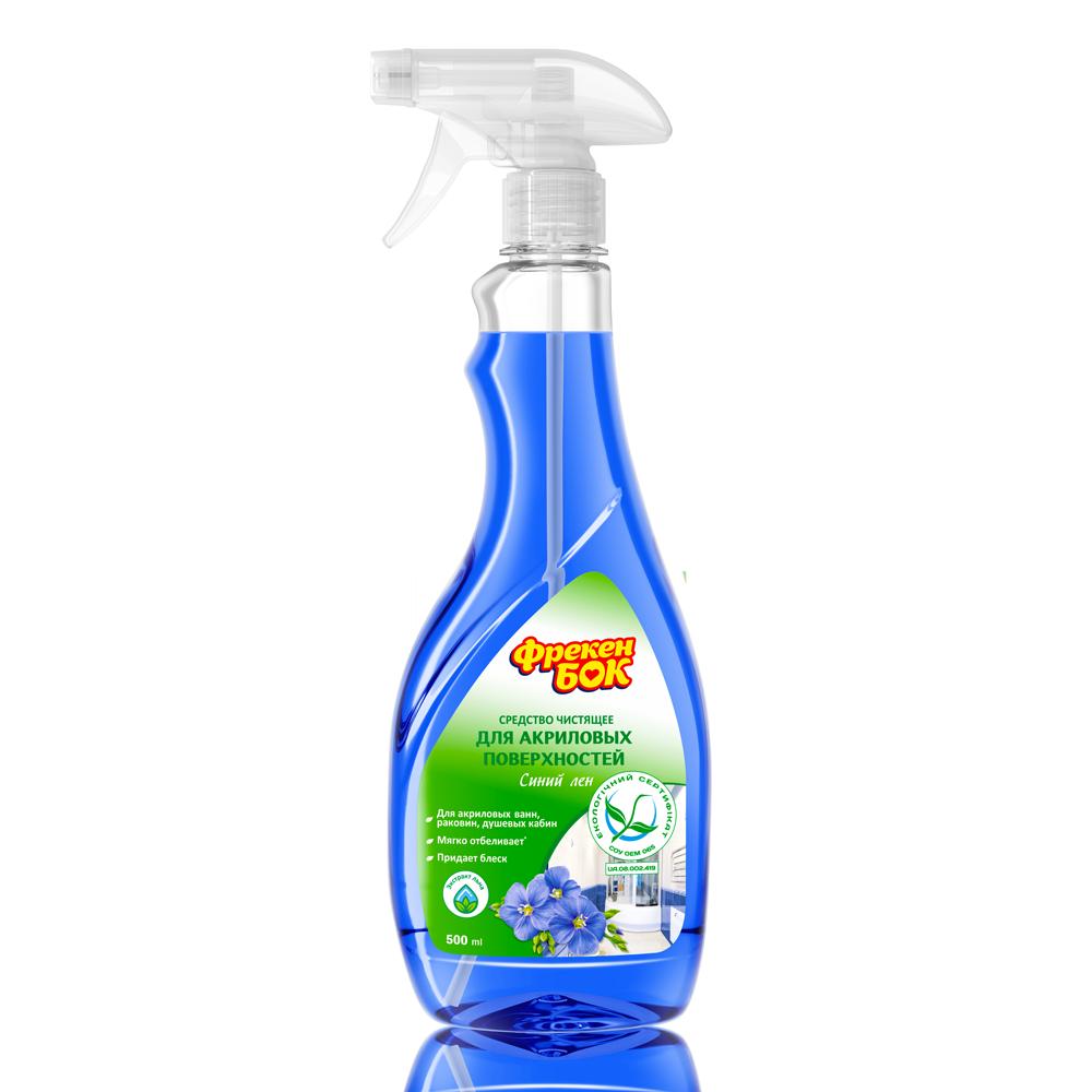 Фрекен БОК Засіб для чищення ванн і душевих кабін «Синій льон»- Фото - Biosphere