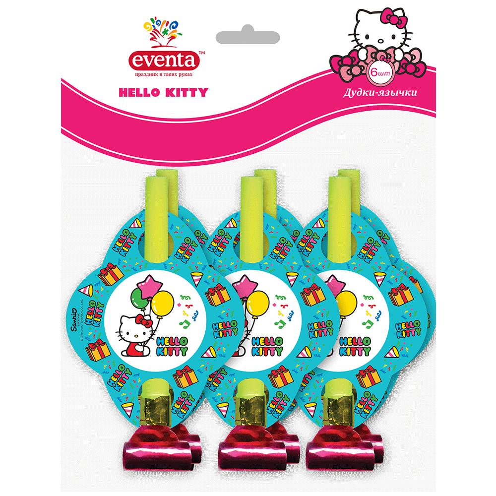 """Пластикові дудки-язички з картонним декором """"Hello Kitty""""- Фото - Biosphere"""