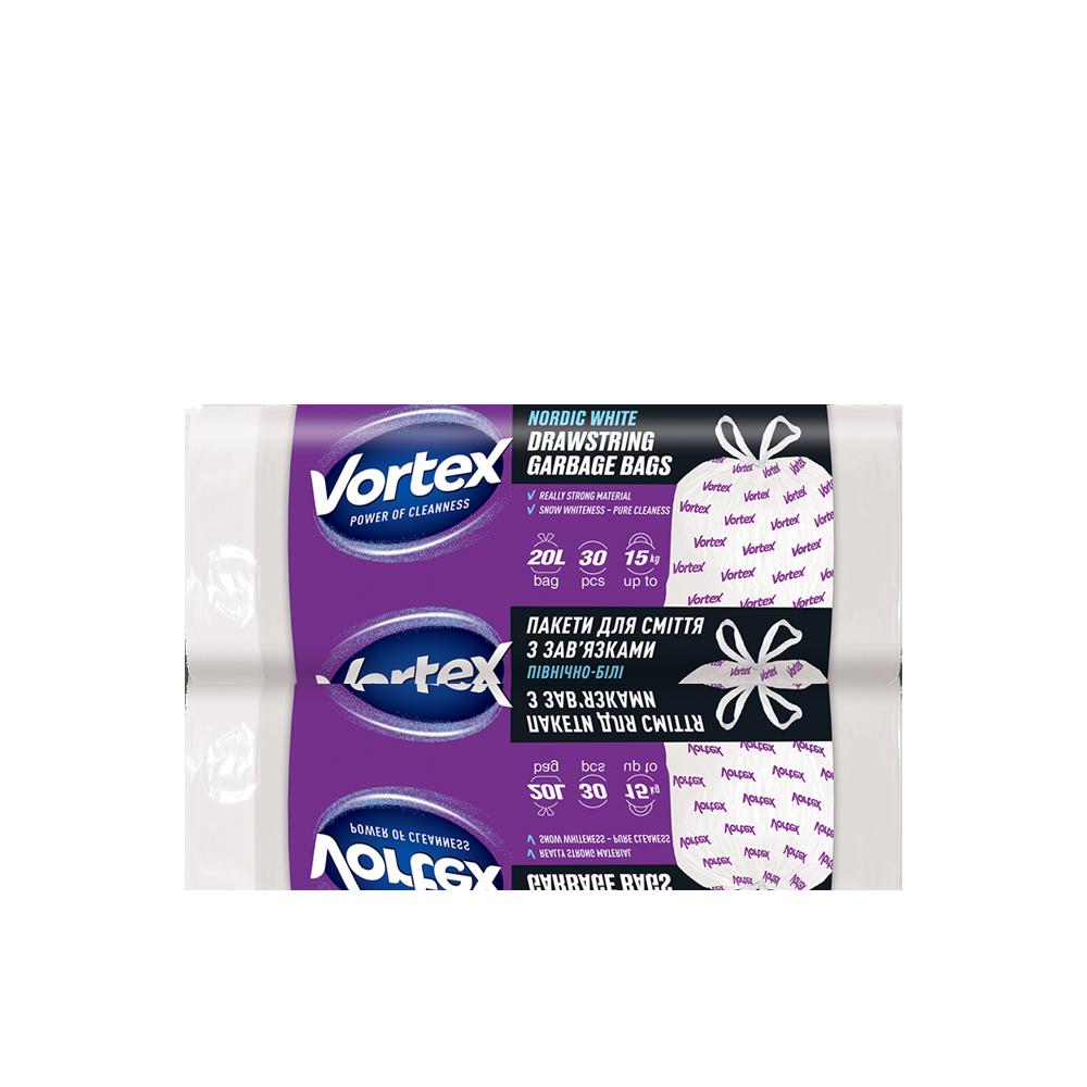 Vortex  Пакет для сміття п/е з затяжкою 20л/30 шт.- Фото 3 - Biosphere