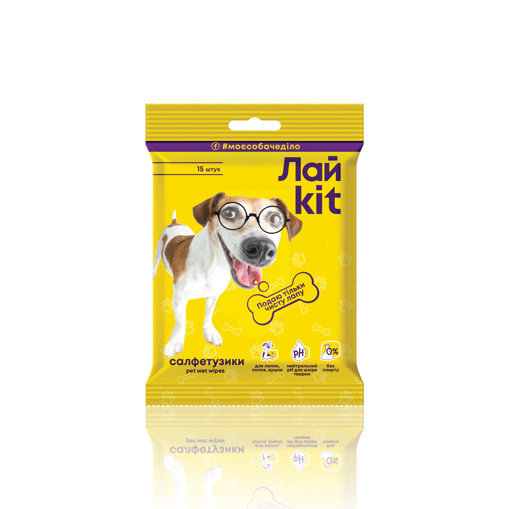 Лайkit Wet Wipes for pet care, 15 pcs.- Фото 3 - Biosphere
