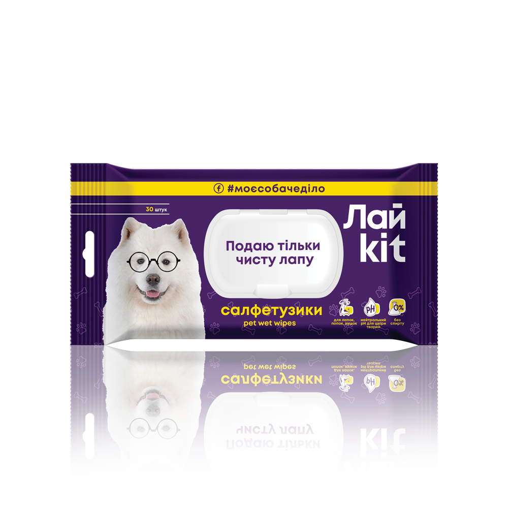 Лайkit Wet Wipes for pet care, 30 pcs.- Фото 4 - Biosphere