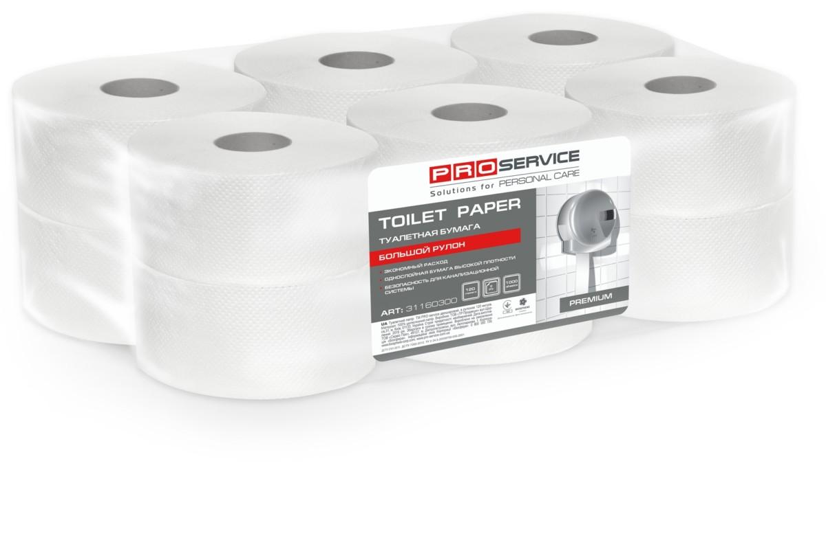 Папір туалетний PRO service Premium 2 шари, 120 м- Фото - Biosphere