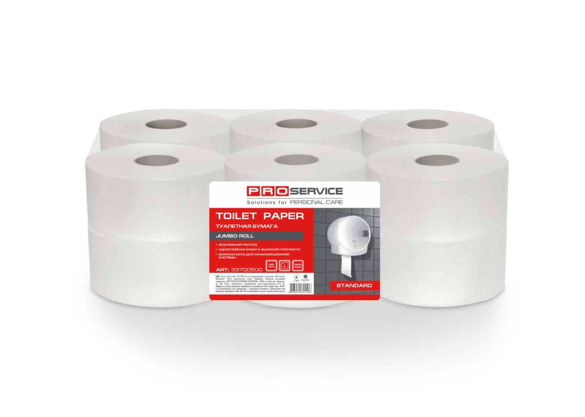 Папір туалетний PRO service Standard 1 шар, 120 м- Фото - Biosphere