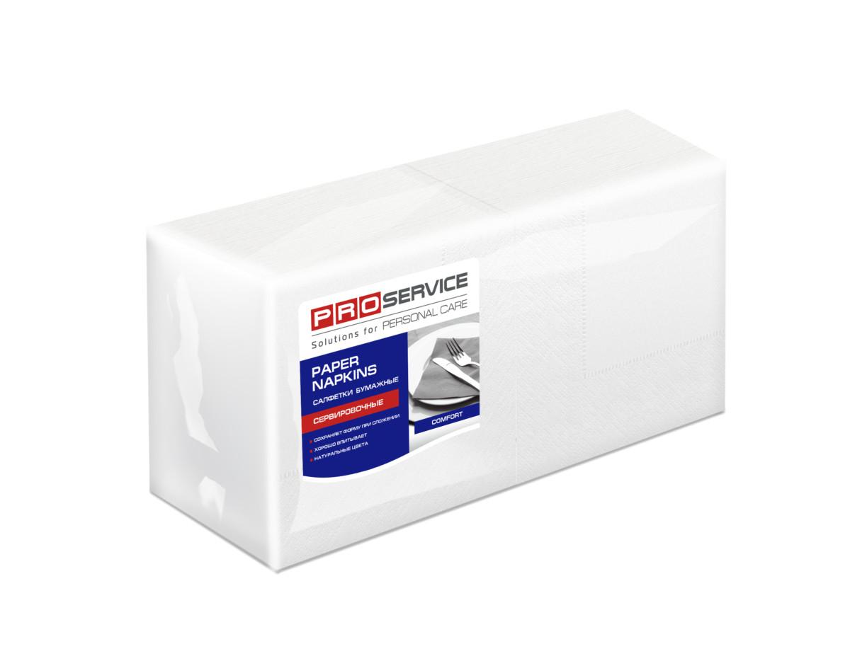 Серветки PRO service Comfort 24х24 білі, 200 арк- Фото - Biosphere