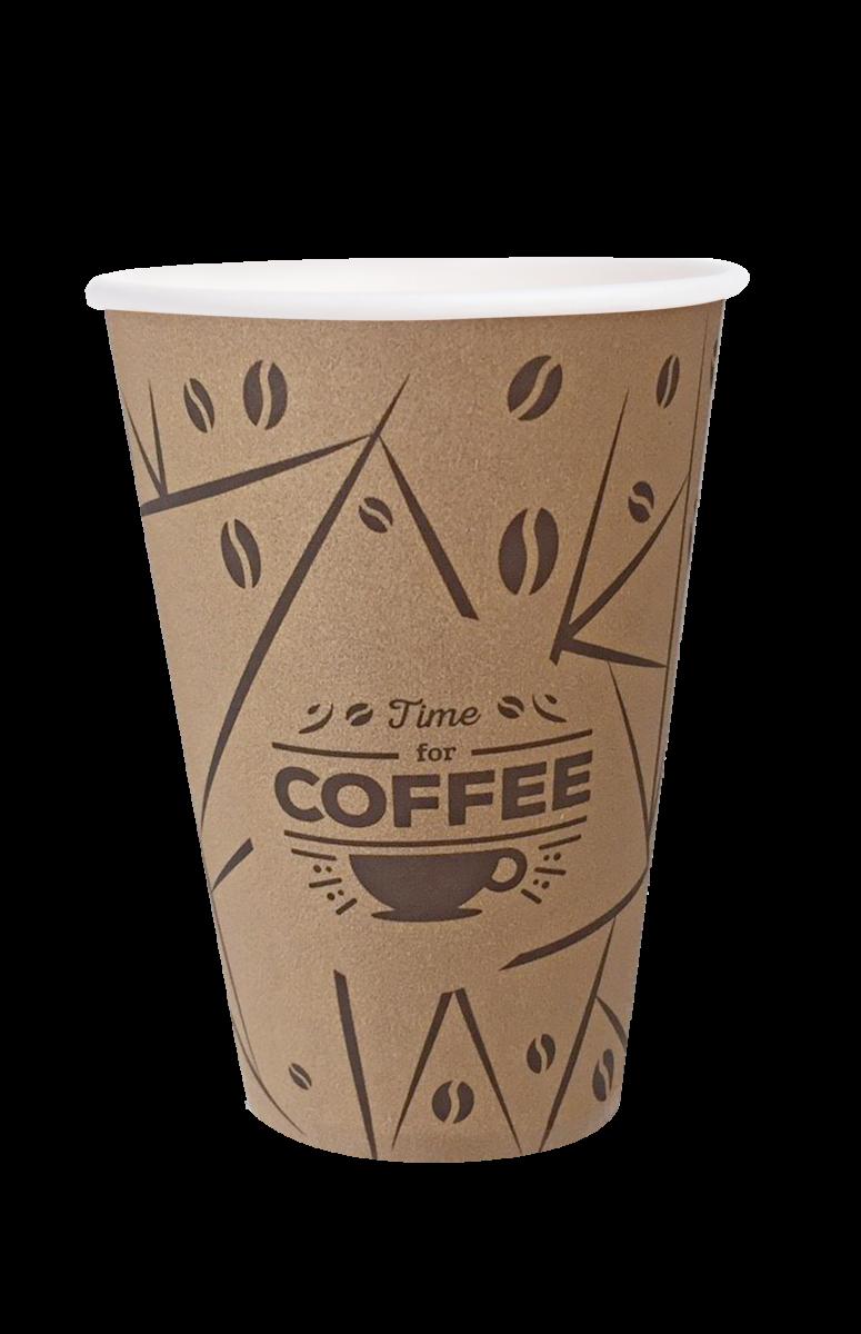 """Стакан паперовий PRO service """"Coffee Time"""", 340мл- Фото - Biosphere"""