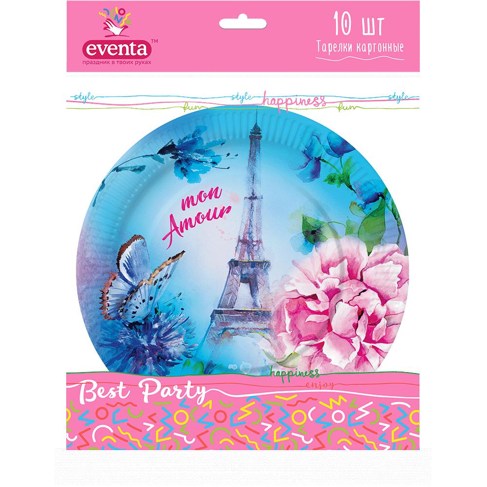 """Тарілки з малюнком """"Париж""""- Фото - Biosphere"""