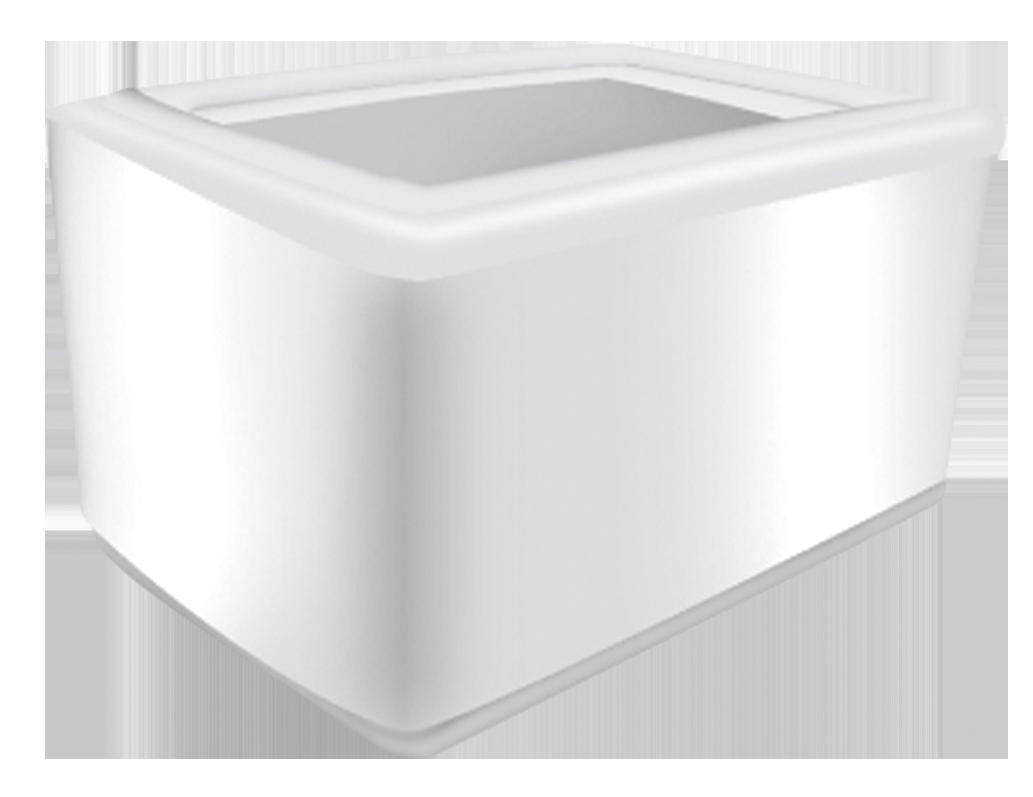 Тримач PRO service для серветок з холдером для реклами, білий- Фото - Biosphere
