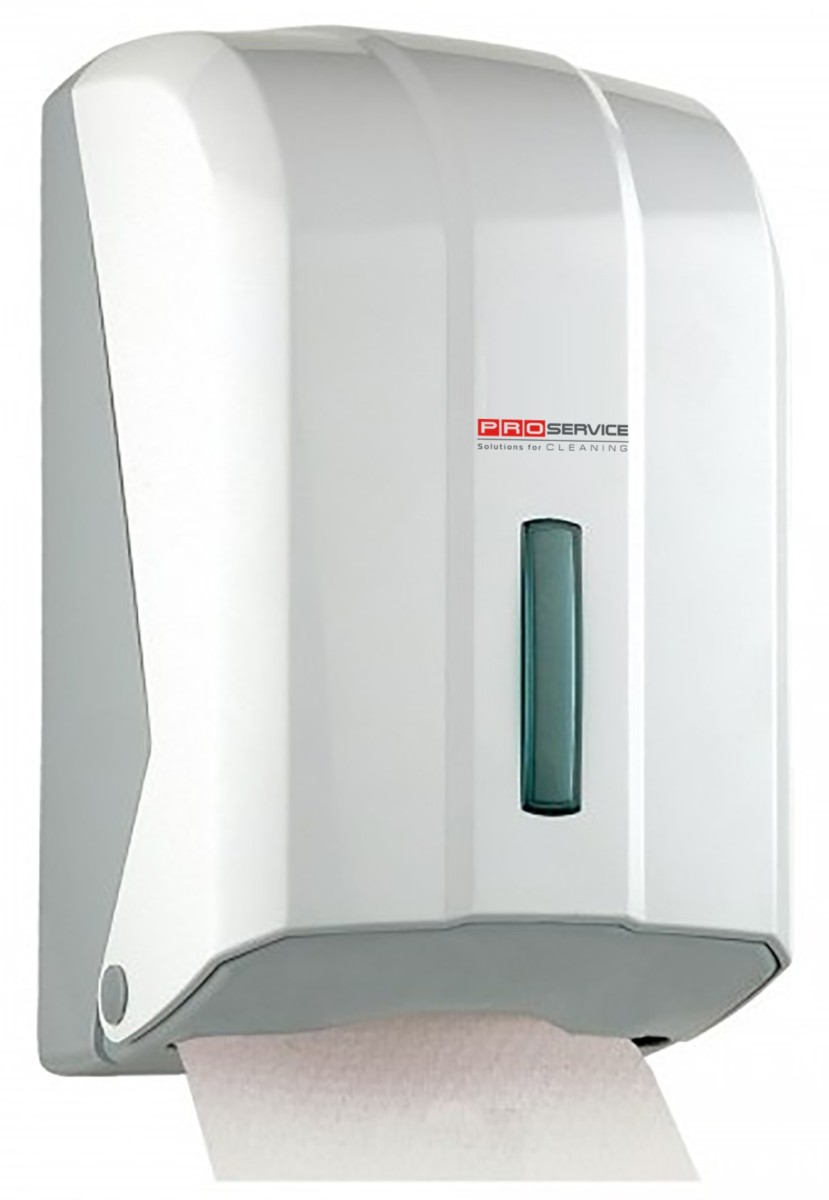 Тримач PRO service для туалетного паперу в аркушах, білий- Фото - Biosphere