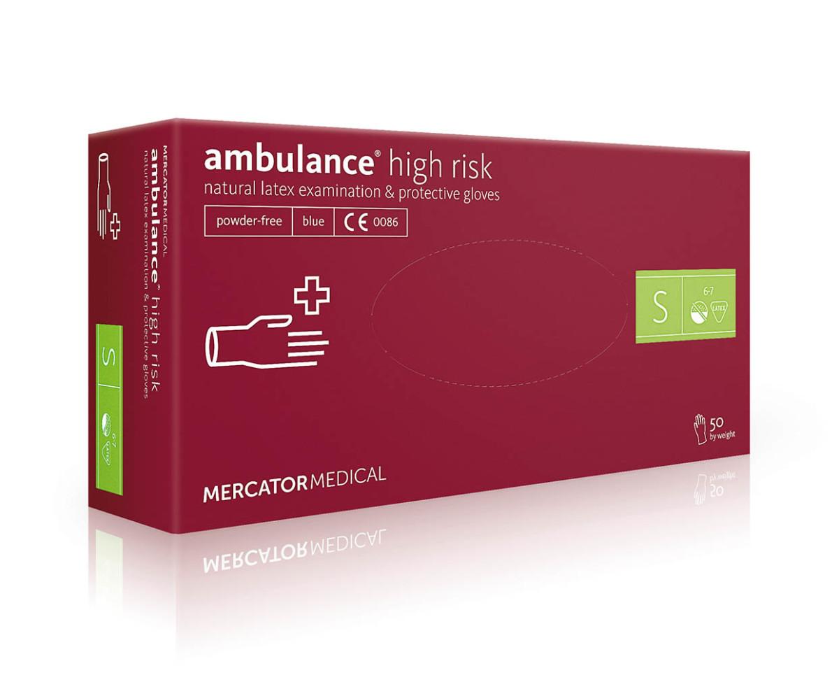 Рукавички латексні Mercator Medical Ambulance High Risk, 50шт, S- Фото 1 - Biosphere