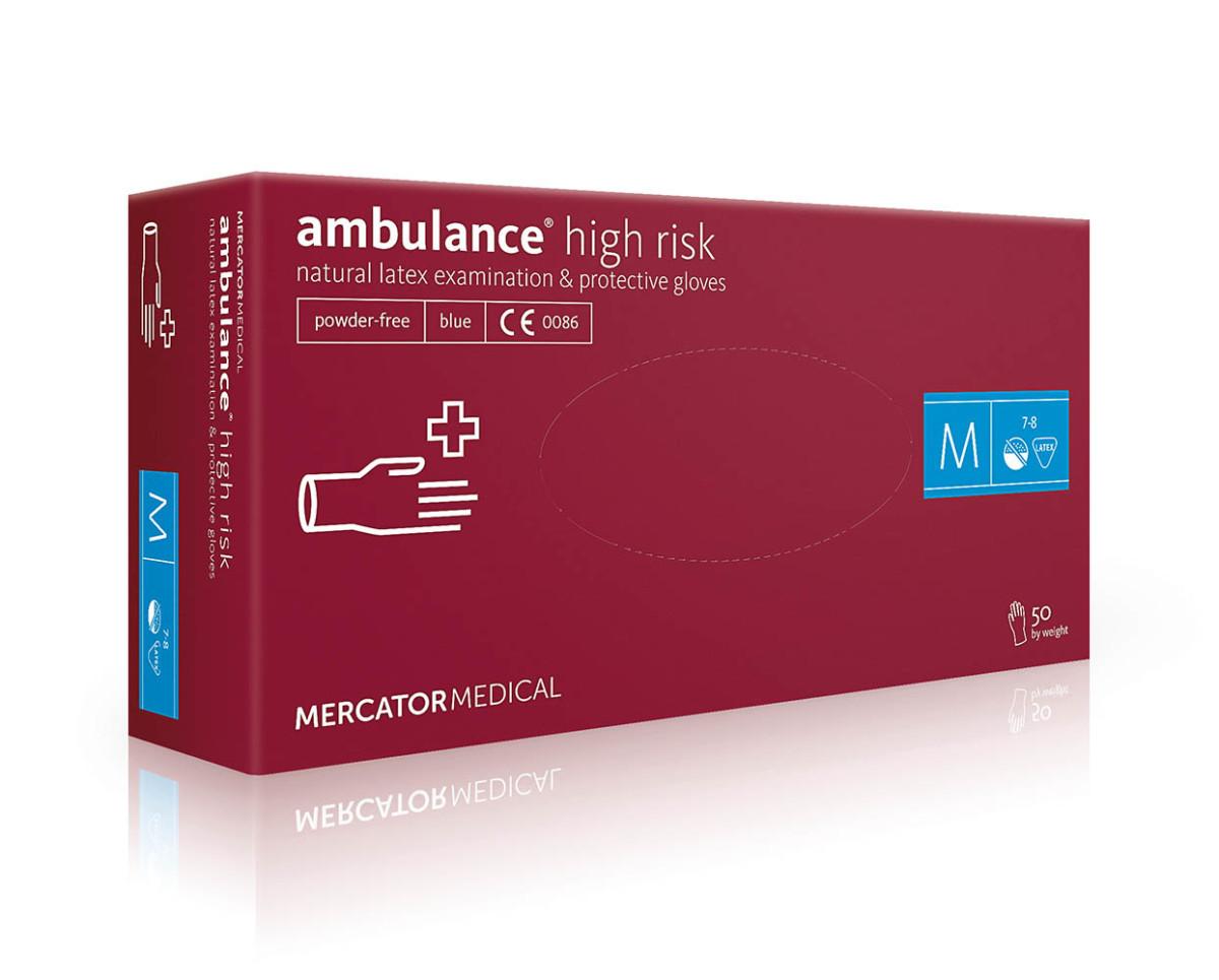 Рукавички латексні Mercator Medical Ambulance High Risk, 50шт, M- Фото - Biosphere