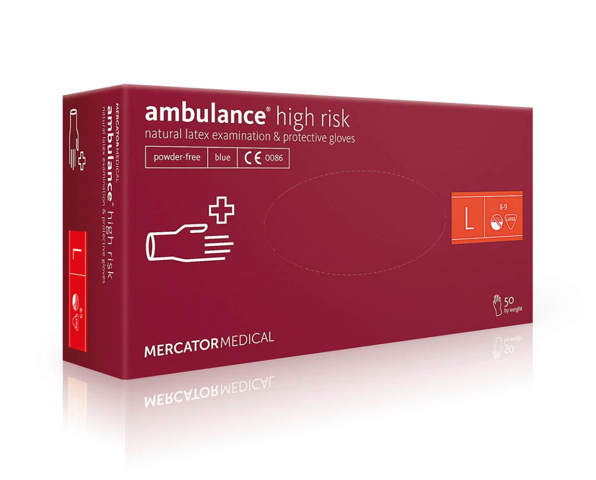 Рукавички латексні Mercator Medical Ambulance High Risk, 50шт, L- Фото - Biosphere