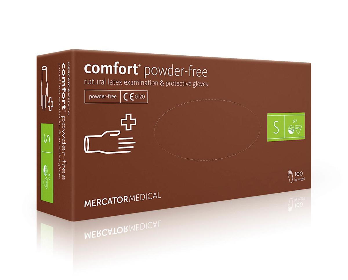 Рукавички латексні Mercator Medical Comfort Powdered-Free, 100шт, S- Фото - Biosphere