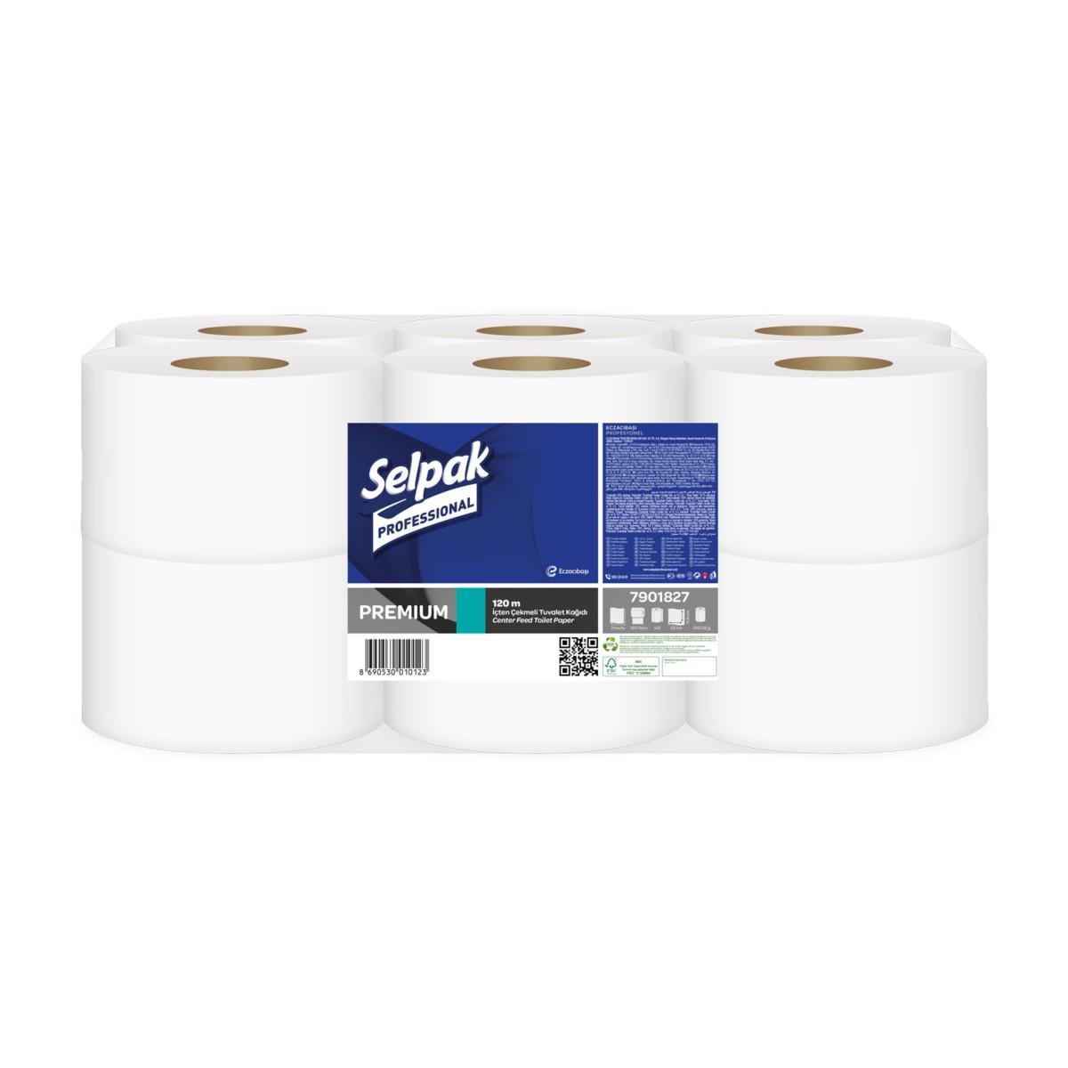 Папір туалетний Selpak Pro. Premium з центр. витягом, 120м- Фото - Biosphere