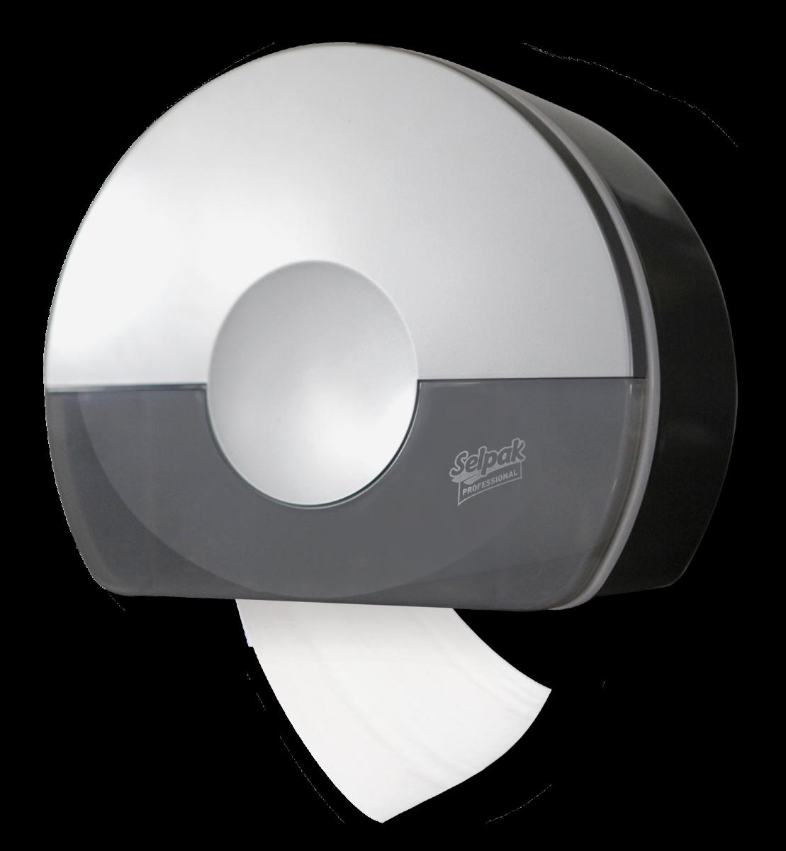 Диспенсер Selpak Prof. Touch для туалетного паперу, сріблястий- Фото - Biosphere
