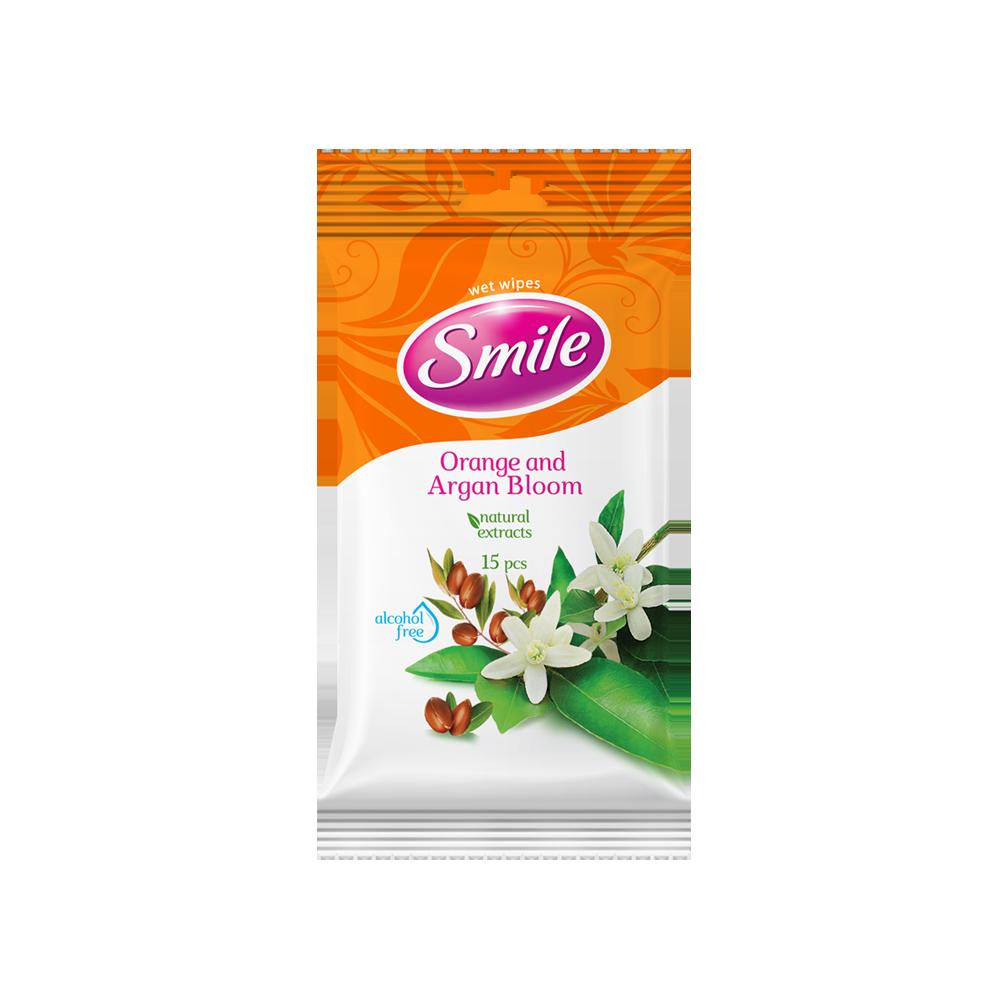 Smile Daily Orange & Argan Bloom wet wipes 15pcs.- Фото - Biosphere