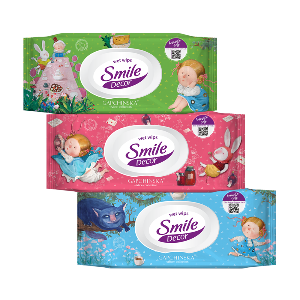 Smile Décor Gapchinska wet wipes with augmented reality 60pcs.- Фото 6 - Biosphere