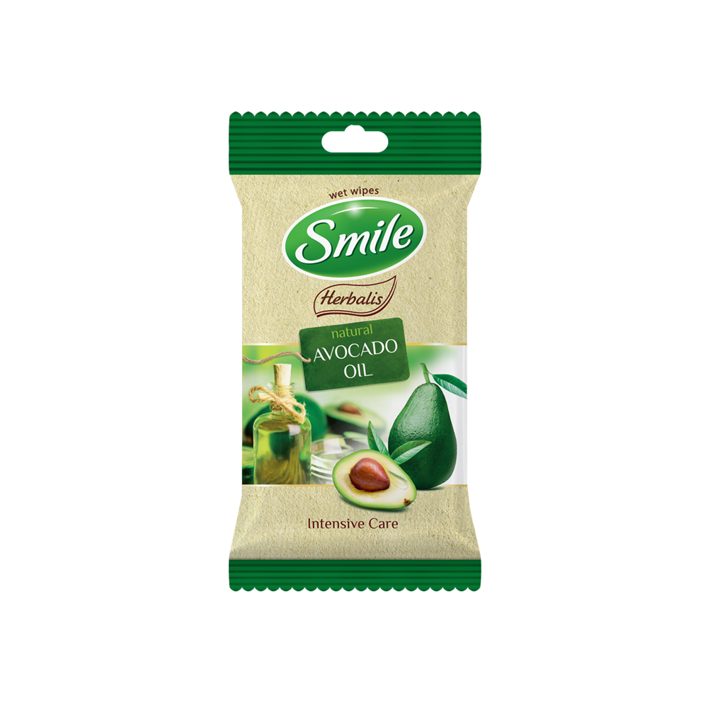.Smile Herbalis wet wipes enriched with avocado oil 10pcs- Фото - Biosphere