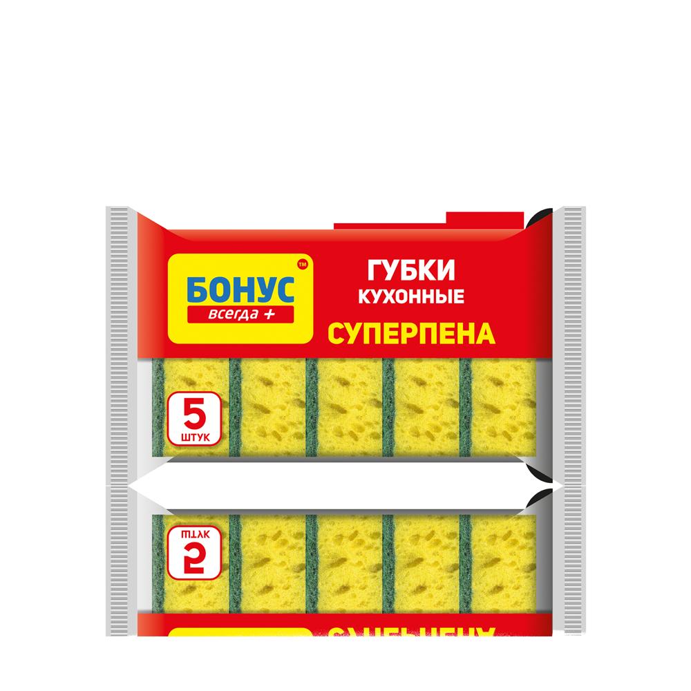 """БОНУС Губка кухонна """"Суперпіна"""", 5 шт.- Фото - Biosphere"""