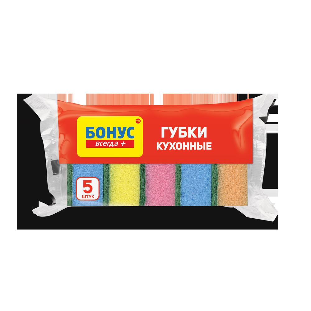 БОНУС Губка кухонная 5 шт- Фото 4 - Biosphere
