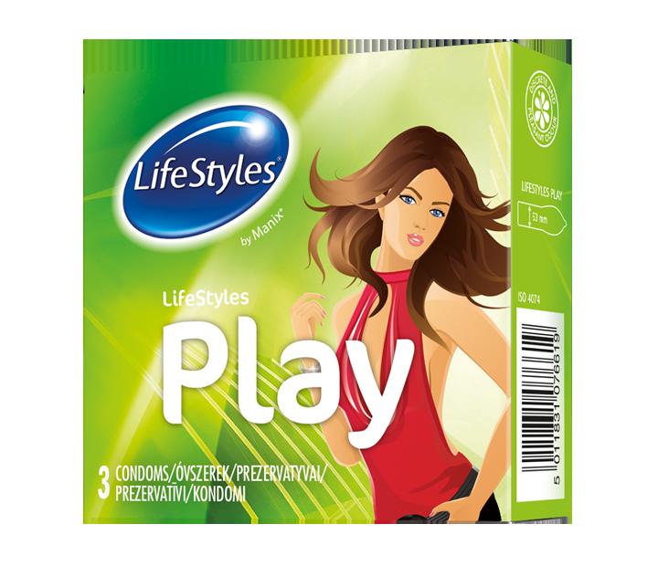 LifeStyles латексні презервативи PLAY 3 шт.- Фото - Biosphere