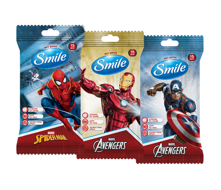 Smile Antibacterial Marvel Wet Wipes- Фото - Biosphere