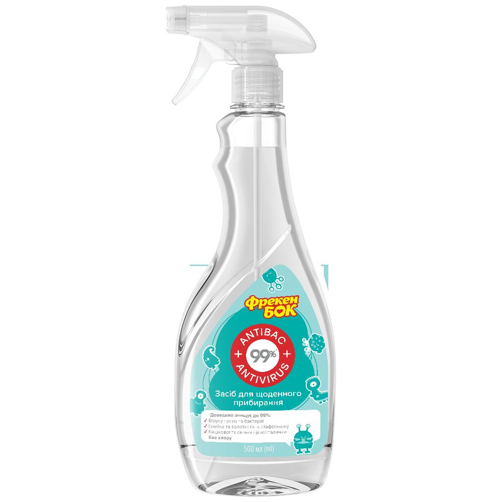 Фрекен БОК Спрей для щоденного гігієнічного прибирання Антибак&Антивірус 99% 2-в-1- Фото 3 - Biosphere