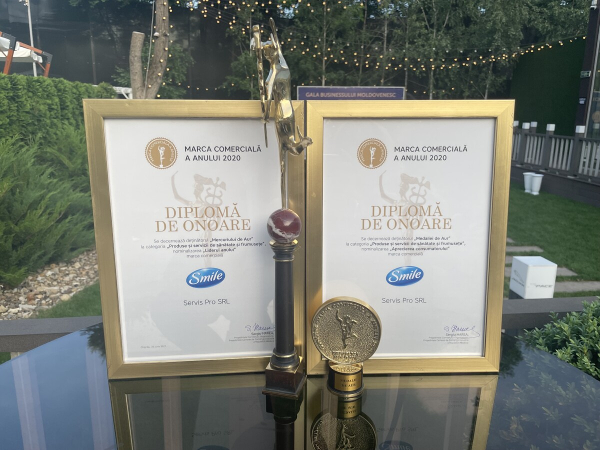 Бренд Smile получил награду «Выбор потребителя» и «Лидер года» в Молдове - Biosphere